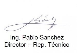 Firma Ing. Pablo Sanchez